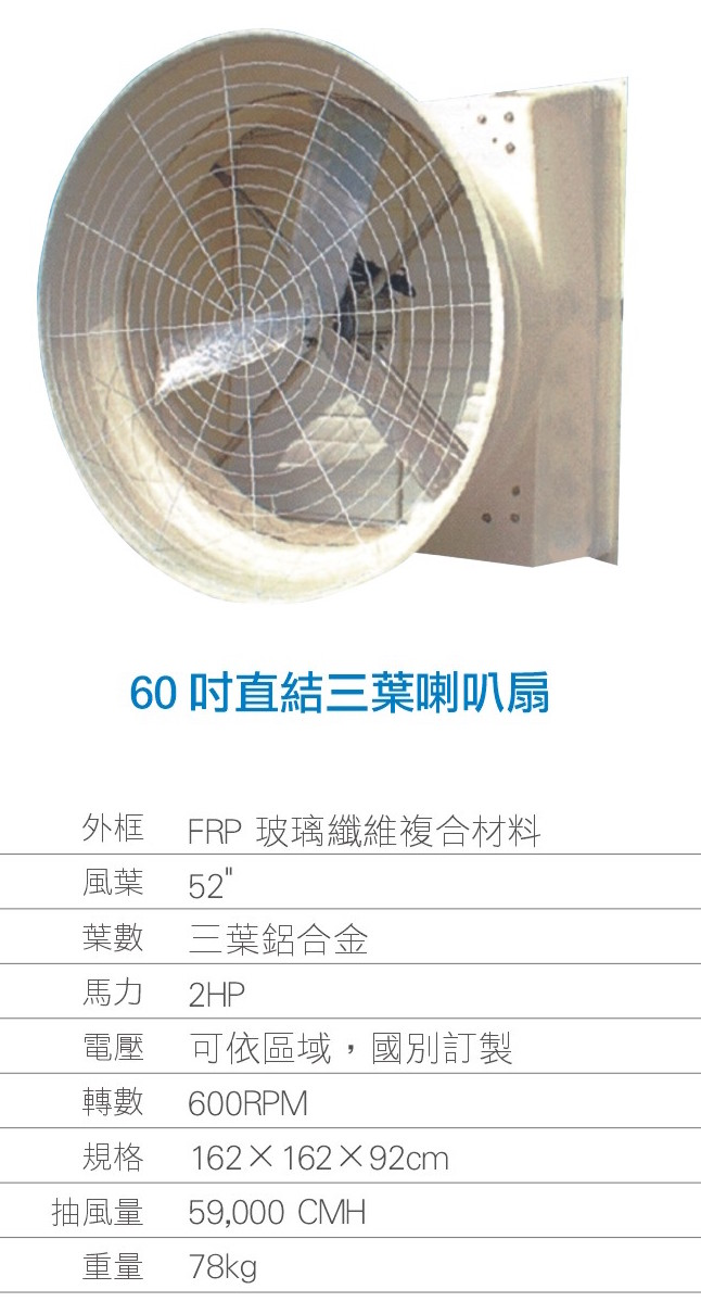 Bathroom Fan Motor Replacement: LR60-3D FRP Exhaust Cone Fan Blades With Direct Drive